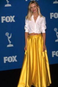 """Calista Flochkart (a.k.a """"La esposa de Harrison Ford/Han Solo"""") con un look de 1999 que hoy se ponen la mayoría de egobloggers que quieren copiar a Olivia Palermo. Foto:vía Getty Images"""