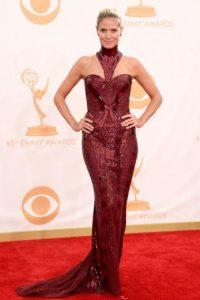 Heidi Klum, como corista en Las Vegas en 1983, pero en 2013. Foto:vía Getty Images