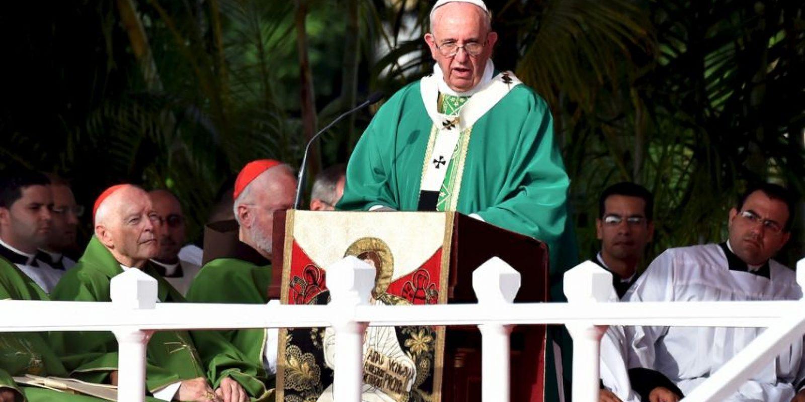 El papa Francisco realizó la misa en la Plaza de la Revolución en La Habana, Cuba. Foto:AFP