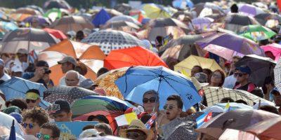 Se estima que un millón de personas asistió al servicio religioso. Foto:AFP