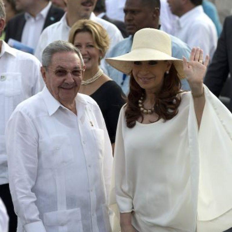 La presidenta de Argentina Cristina Fernández viajó a la isla para el evento. Foto:AP