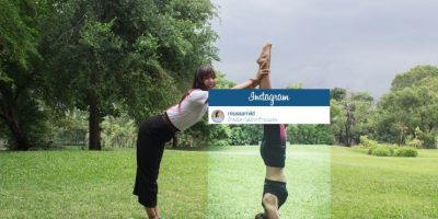 Yoga en un parque cualquiera. Foto:vía Facebook/Chompoo Baritone