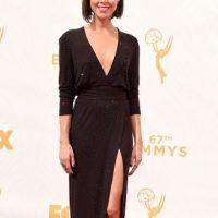 Aubrey Plaza, con un color perfecto para ella. Foto:vía Getty Images