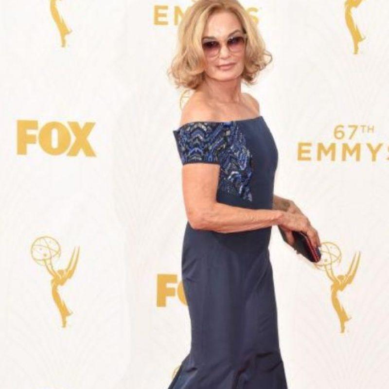 Sorry, Jessica Lange. Jamie Lee Curtis te gana esta vez. Foto:vía Getty Images