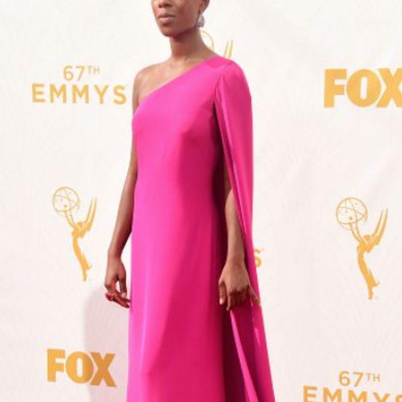 Samira Willey, como Lupita Nyong'o. Foto:vía Getty Images