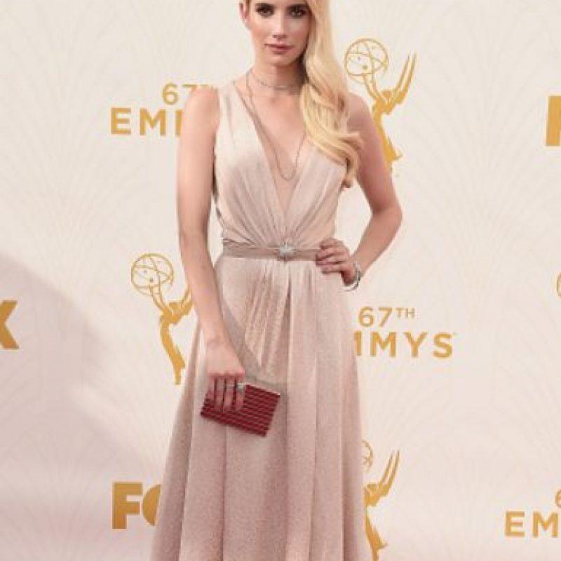 Emma Roberts, única en rosa. Foto:vía Getty Images