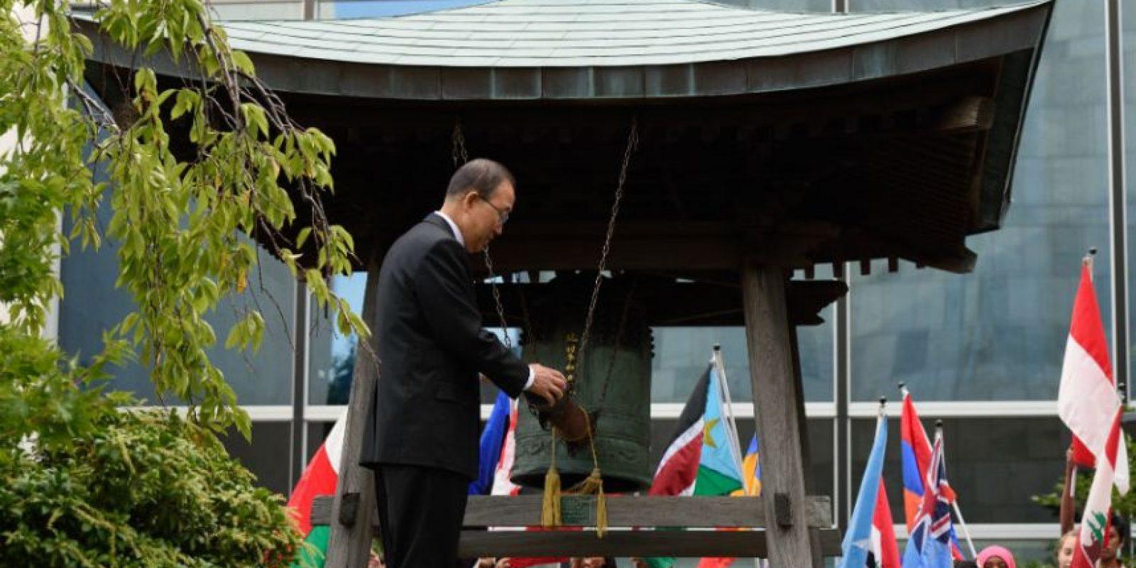 El Secretario General de la ONU, Ban Ki-Moon, participó en una ceremonia llevada acabo en Nueva York, Estados Unidos. Foto:AFP