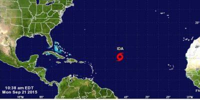 Ida, la novena tormenta tropical, se desplaza por el Atlántico hacia el noroeste