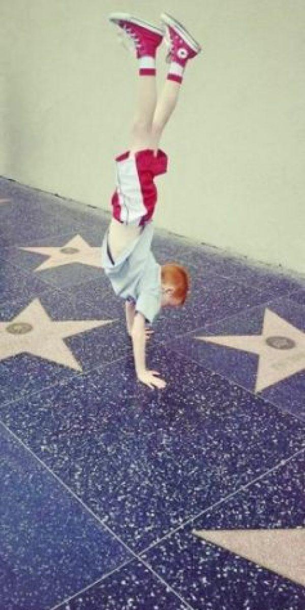 A pesar de su corta edad, Dylan es un experto en danza. Foto:vía facebook.com/Red-Headed-Persian-Entertainer