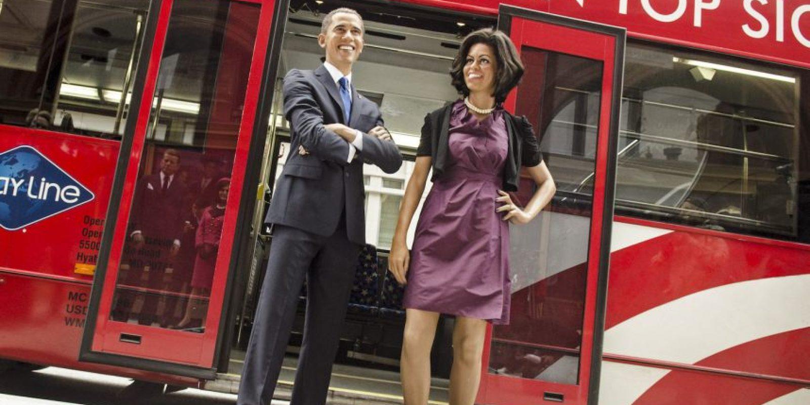 Barack Obama y la primera dama Michelle Obama se vuelven muñecos de cera en 2013. Foto:Getty Images