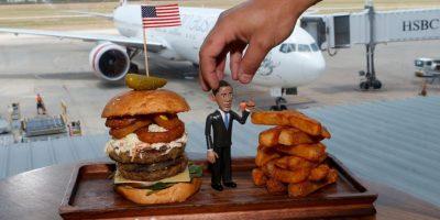 Un restaurante de hamburguesas en Australia utilizó la imagen del presidente para nombrar a sus hamburguesas Foto:Getty Images