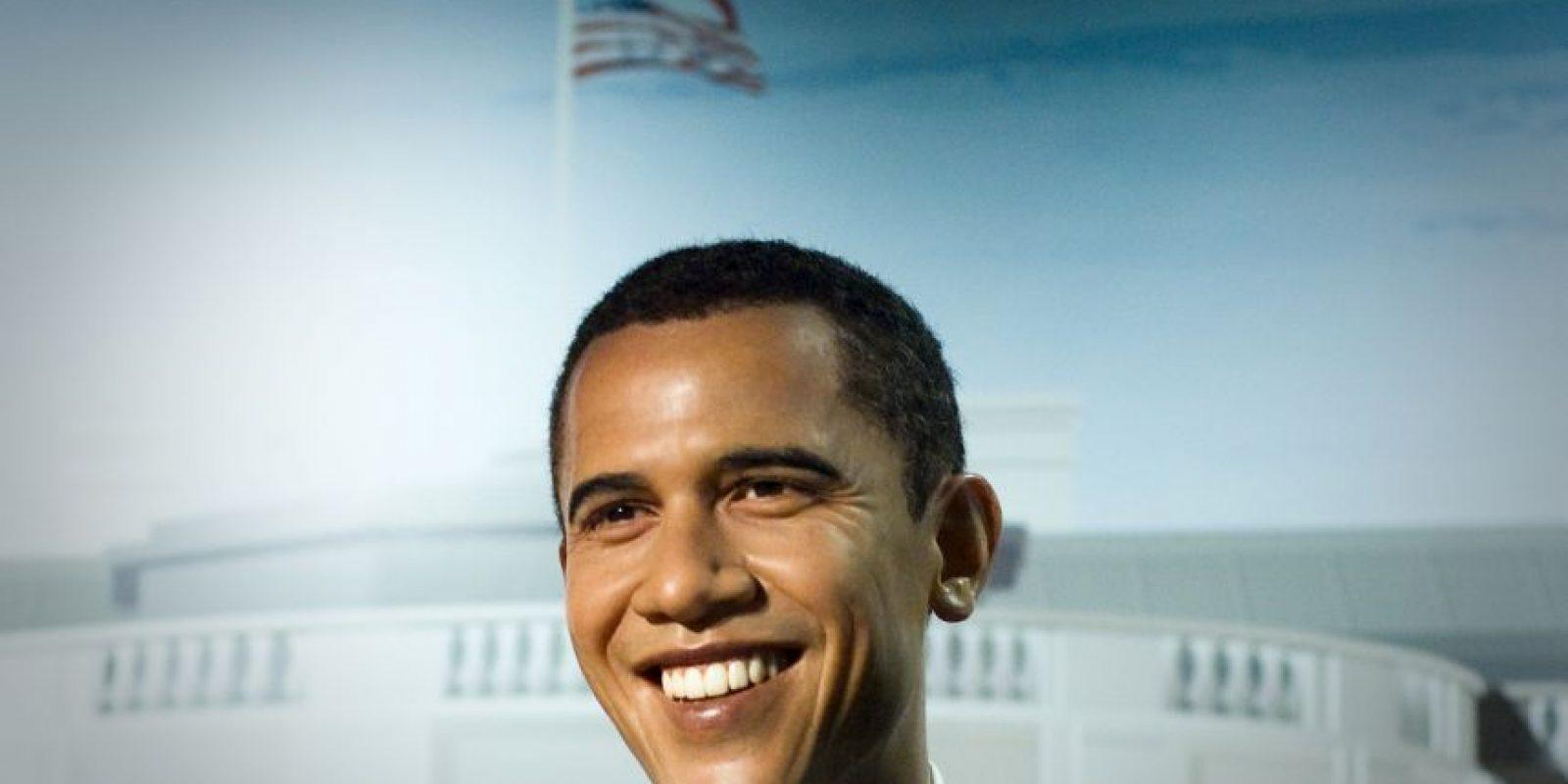 Así se presentó a Barack Obama en el museo de cera Madame Tussauds. Foto:Getty Images