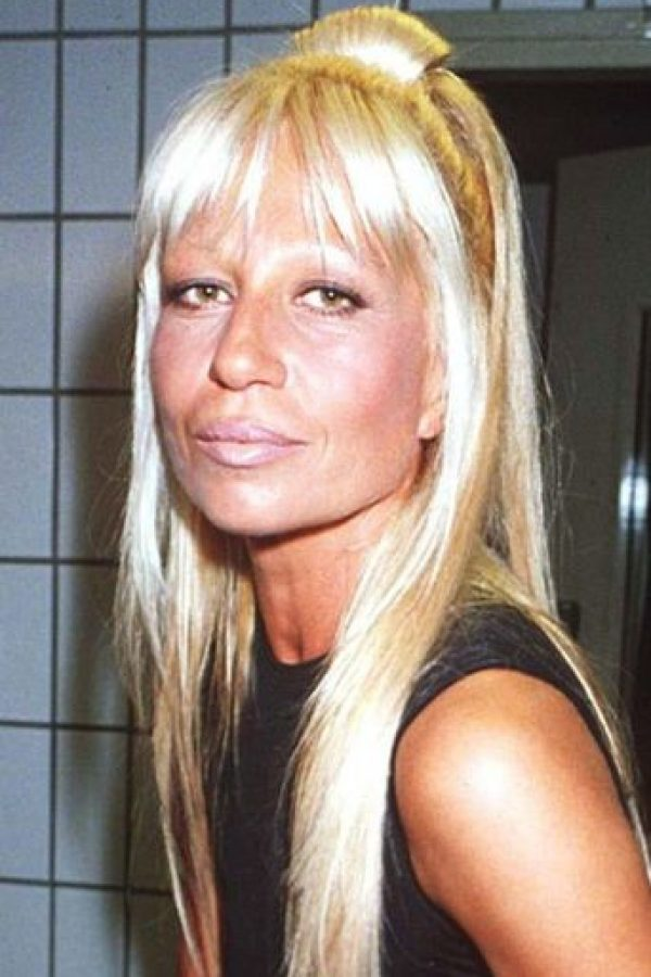 Donatella Versace se veía así en los años 90. Foto:vía Getty Images