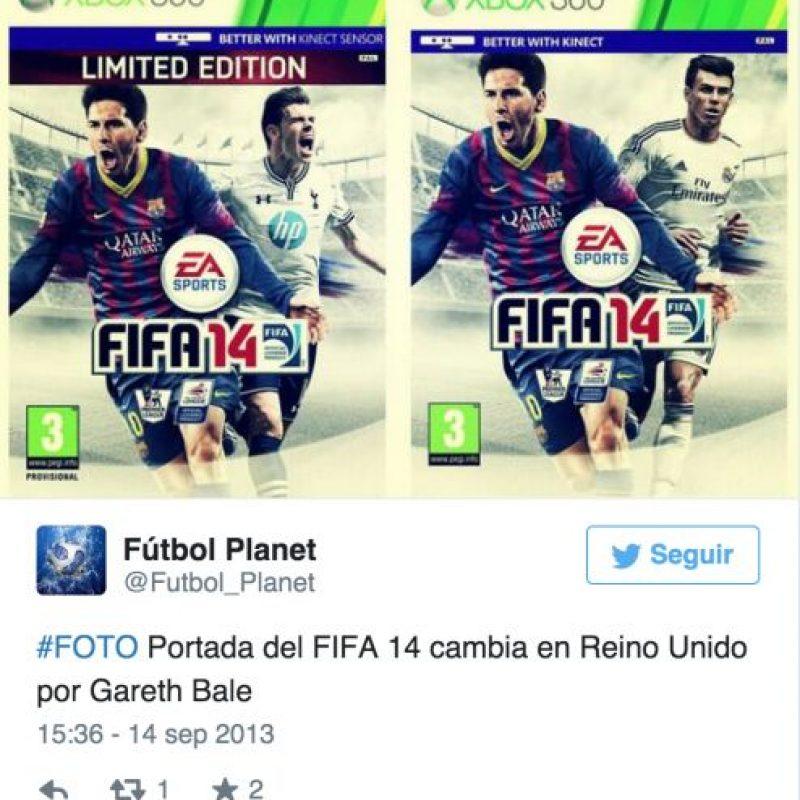 """Algo similar ocurrió en 2013, cuando Gareth Bale, quien militaba en el Tottenham de la la liga Premier de Inglaterra, fue fichado por el Real Madrid días antes de que el videojuego """"FIFA 14"""" fuera lanzado Foto:Twitter"""