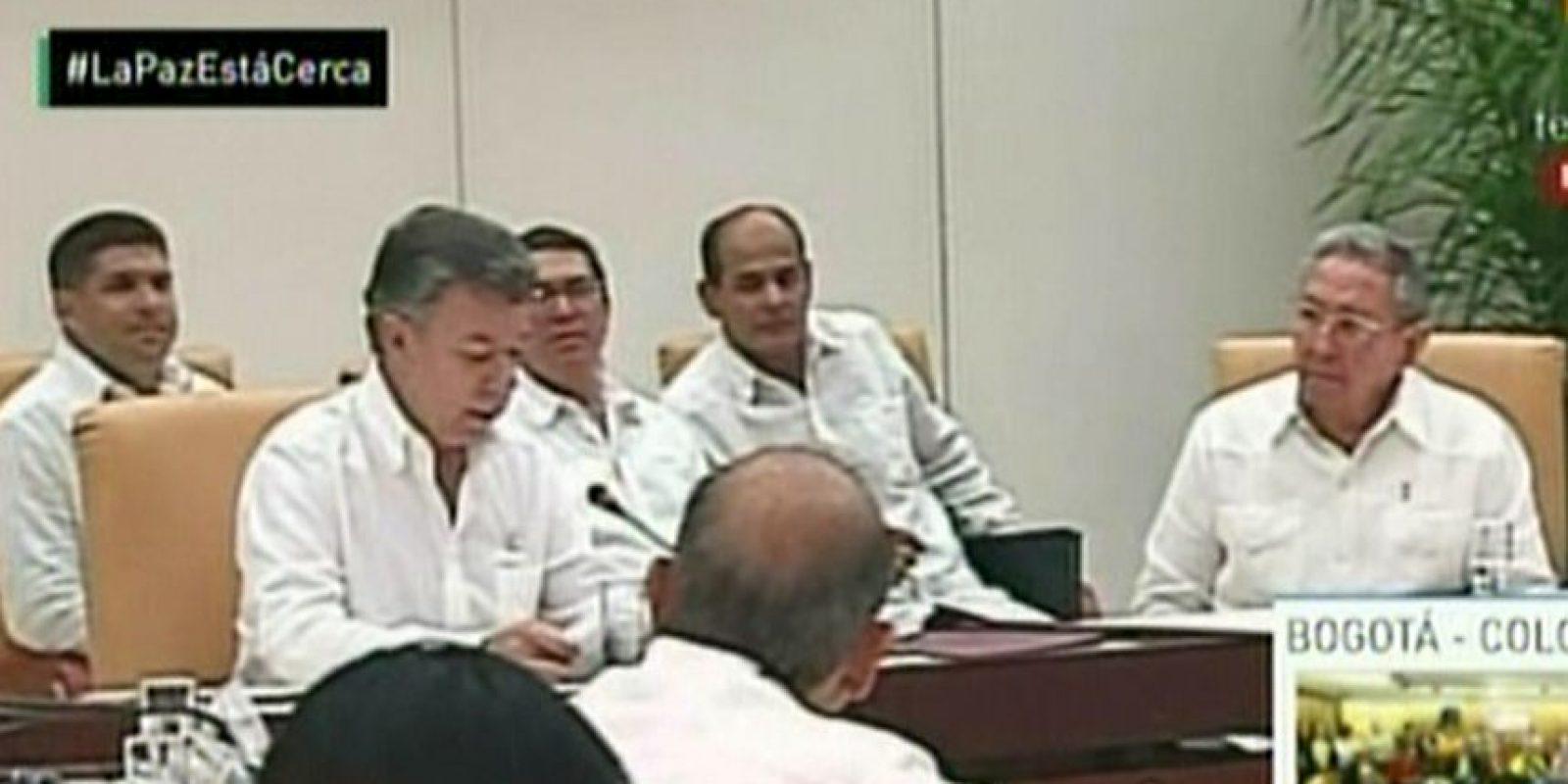 En la reunión estuvo presente el presidente cubano Raúl Castro. Foto:AFP