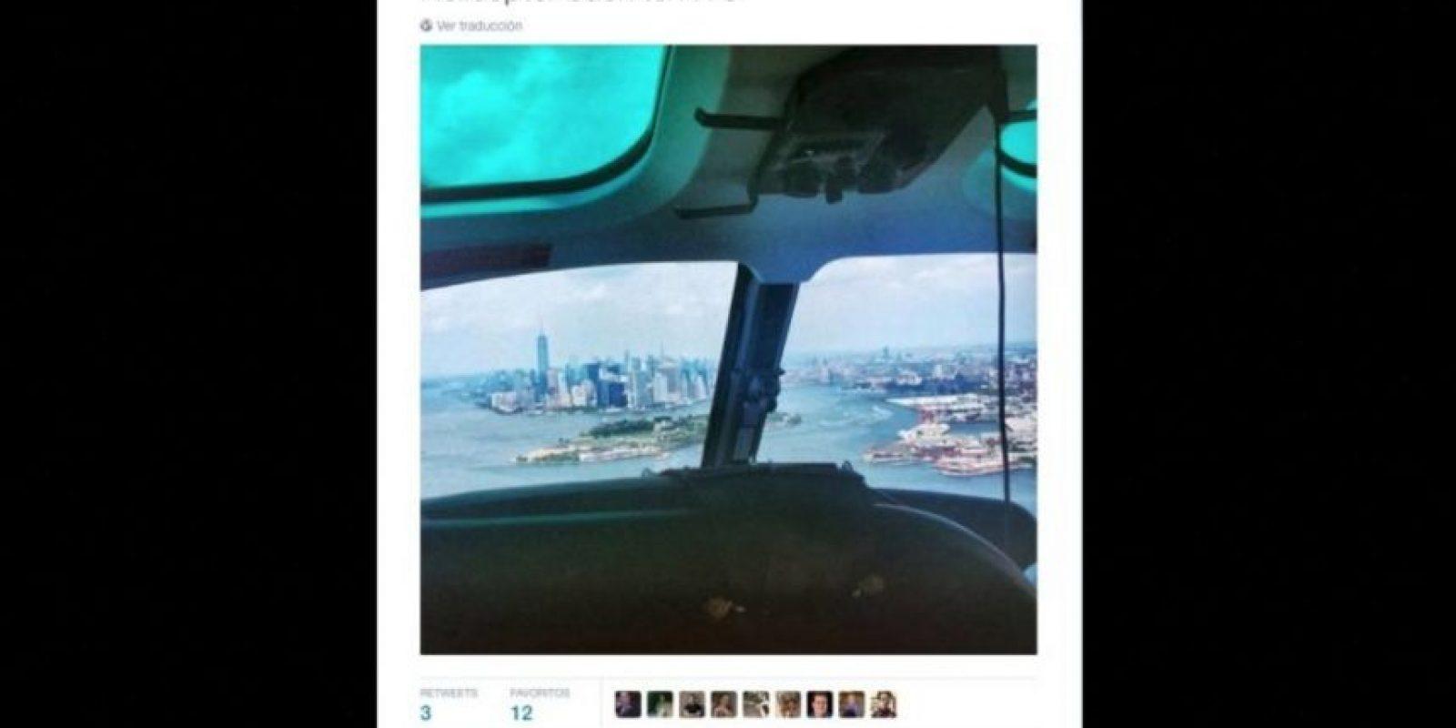 """""""De regreso en helicóptero"""" Foto:Twitter.com/MartinShkreli"""