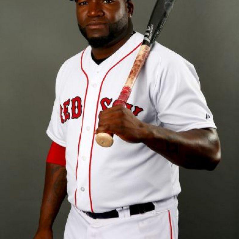 David Ortiz es un beisbolista dominicano que juega para los Red Sox de Boston de la MLB. Foto:Getty Images