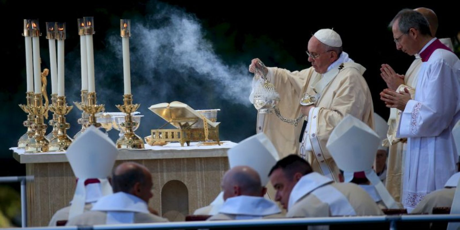 Este hizo historia al convertirse en el primer pontífice en ofrecer un discurso en el Congreso de Estados Unidos. Foto:Getty Images