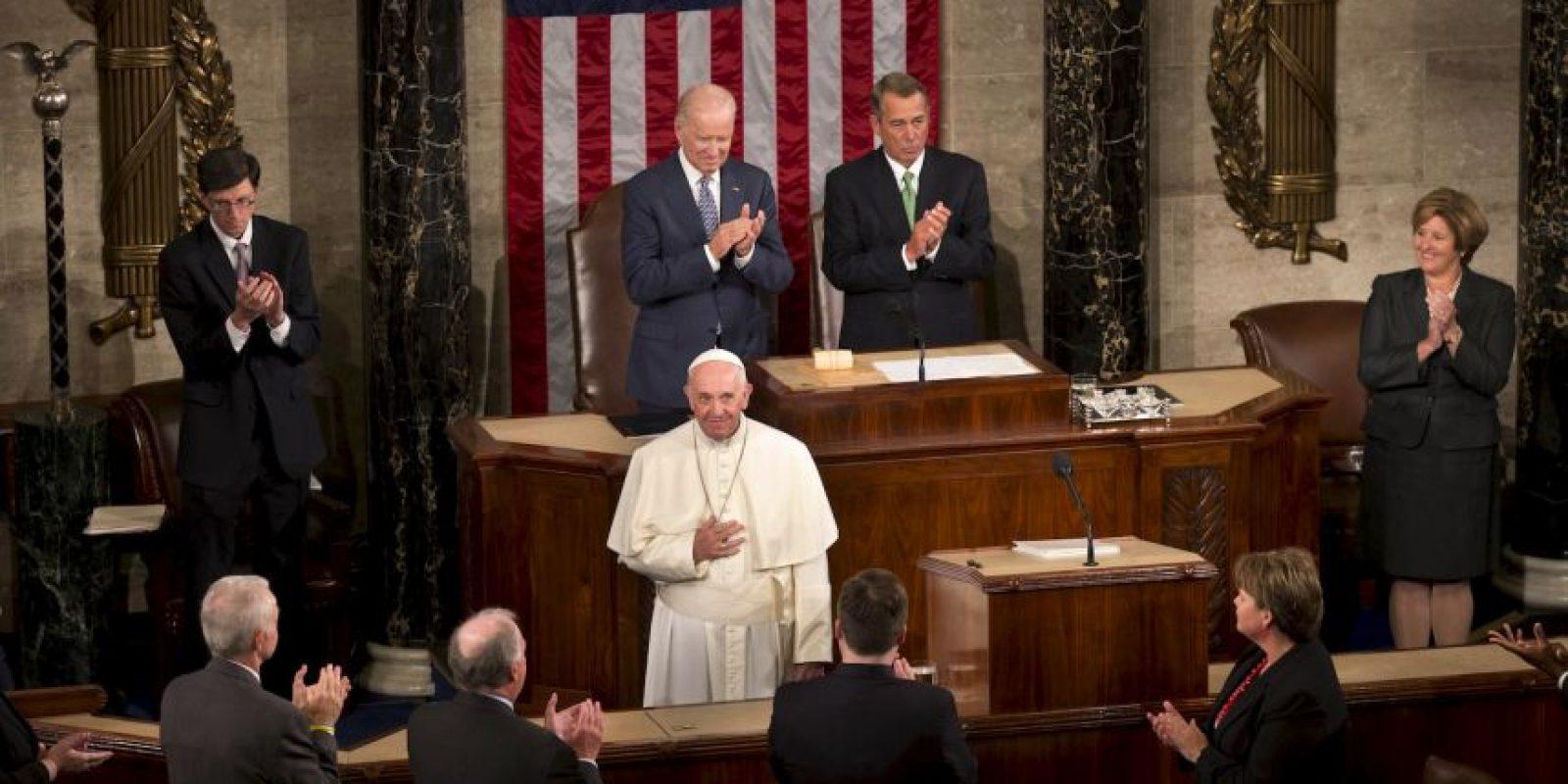 El jueves dio un discurso frente al Congreso estadounidense donde pidió la abolición de la pena de muerte. Foto:AP