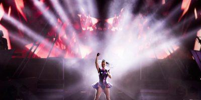 La artista mostró su talento en su show lleno de efectos especiales. Foto:Getty Images