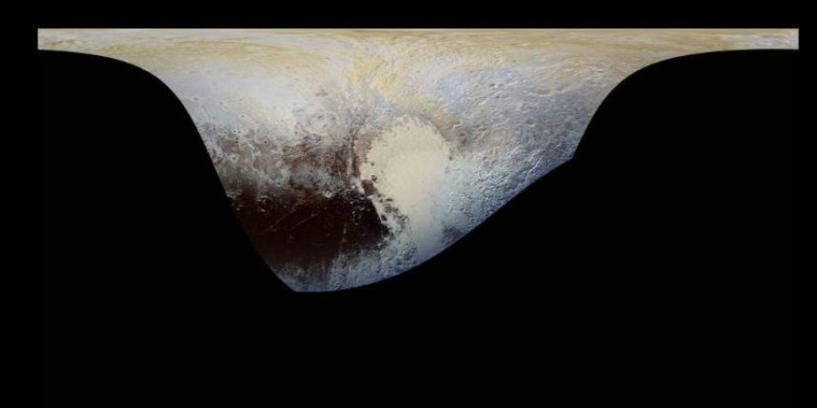 Nunca se habían hecho imágenes de los colores de Plutón tan detalladas. Foto:Vía nasa.gov