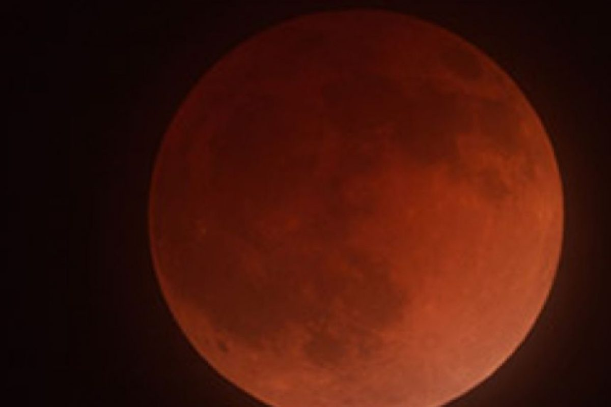 """La consideran también una """"señal del fin"""", ya que es el último eclipse de cuatro que han tenido lugar desde el año pasado y este. A esto se le llama """"tétrada"""". Foto:vía Sipse"""
