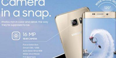 16 MP cámara trasera y 5 en la delantera, Real Time HDR Foto:Samsung
