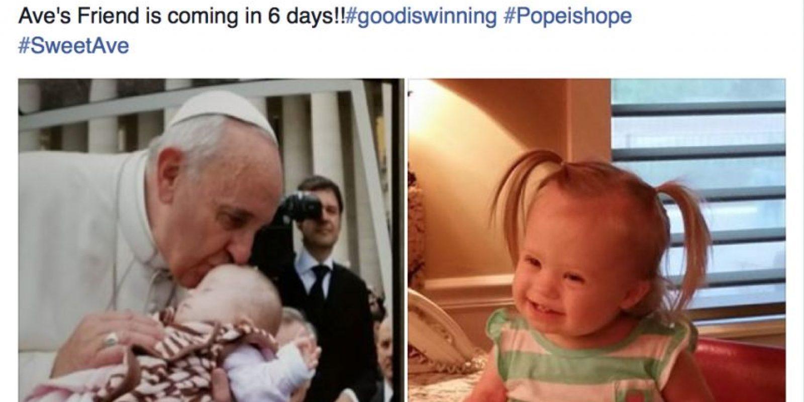 La familia de la pequeña esperaba con ansia la visita del Papa Foto:Vía facebook.com/lynn.cassidy2