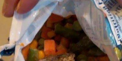 Sapo dentro de la ensalada. Foto:vía Imgur