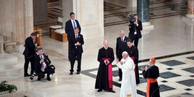 Se encuentro con el obispos de Estados Unidos en la Catedral de San Mateo. Foto:AFP