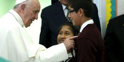 Tuvo un encuentro con niños de escuelas religiosas. Foto:AFP