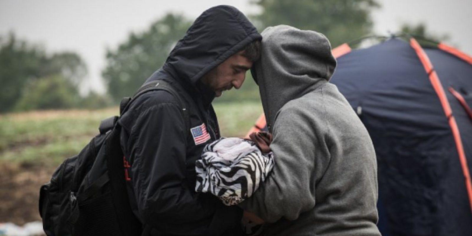 """""""No sabemos si la niña salvó a su madre de esta metralla o la madre salvó a su bebé"""", explica a CNN uno de los médicos. Foto:Getty Images"""