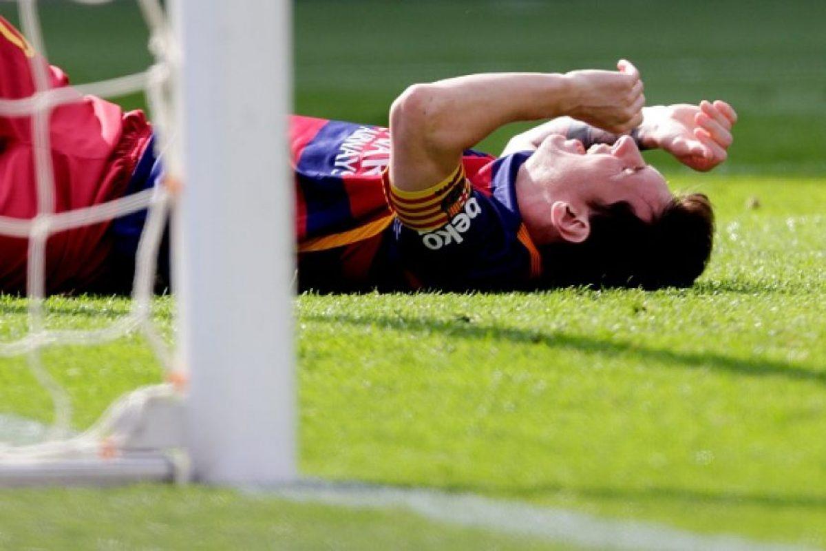 Lionel Messi tuvo una dura lesión durante el partido entre el Barcelona y UD Las Palmas del pasado fin de semana. Foto:Getty Images