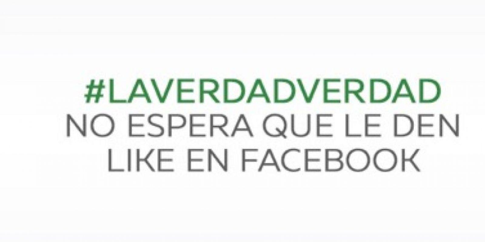 Laverdadverdad no Esperes que le den like en Facebook