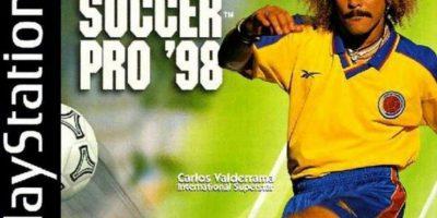 """""""International Superstar Soccer Pro 98"""" con Carlos """"Pibe"""" Valderrama (1998). Foto:Konami"""