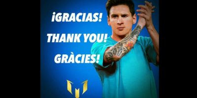 Lionel Messi agradeció las muestras de cariño tras su lesión