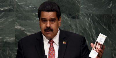 """En su discurso, hizo un llamado a la paz y finalizó con un """"Viva la paz"""". Foto:AFP"""