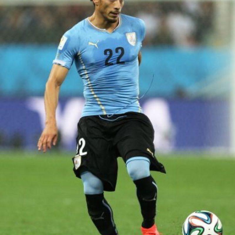 """Ganó con la """"Celeste"""" la Copa America 2011, y fue a los Mundiales de Sudáfrica 2010 y Brasil 2014. Foto:Getty Images"""