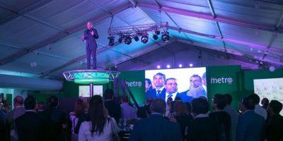 Homero Figueroa, director del medio, durante la presentación de MetroRD Foto:EFE/Orlando Barría