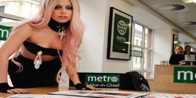 La reina del pop: Lady Gaga. Editora en la sede de Londres