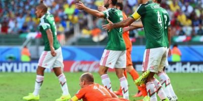 5. Holanda vs. México. Octavos de final del Mundial Brasil 2014 Foto: Getty Images