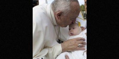 Esta es la bebé que se robó el corazón del Papa Francisco Foto:Getty Images