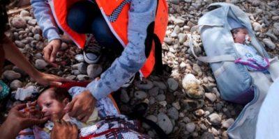 Los menores originarios de Siria llegaron a Grecia Foto:AFP