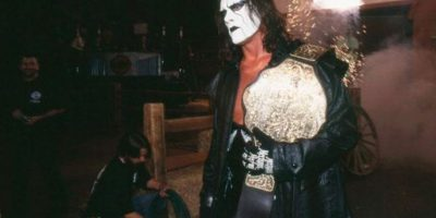 """En 2014, Sting se unió a la WWE y su debut fue en """"Survivor Series"""", atacando a Triple H para darle el triunfo a """"Team Cena"""", equipo liderado por John Cena. Foto:WWE"""