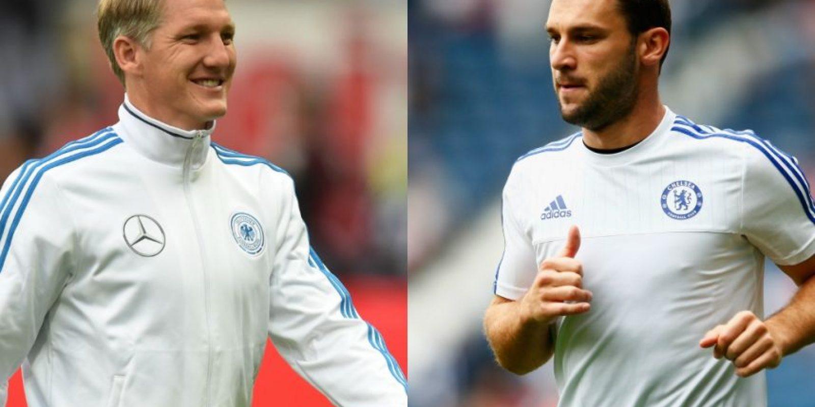 Bastian Schweinsteiger y Branislav Ivanovic – El jugador alemán tiene 31 años, la misma edad del defensa serbio, que por la barba y su calvicie parece mucho mayor. Foto:Getty Images