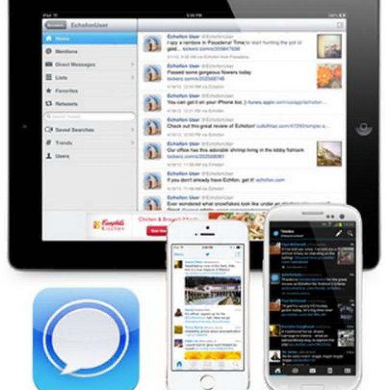 Está disponible para Android, iOS y Mac. Foto:Echofon