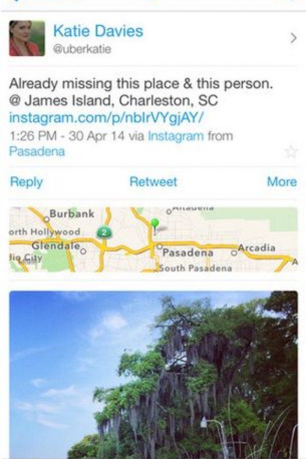 De esta forma se ven los tuits que tienen contenido multimedia. Foto:Echofon