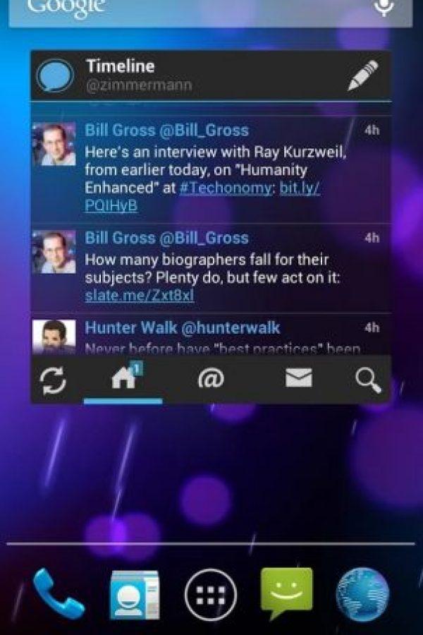 Tiene un widget para Android. Foto:Echofon