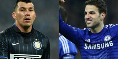 """Gary Medel y Cesc Fábregas – Aunque el """"Pitbull"""" parezca más viejo que el jugador del Chelsea, ambos tienen 28 años. Foto:Getty Images"""