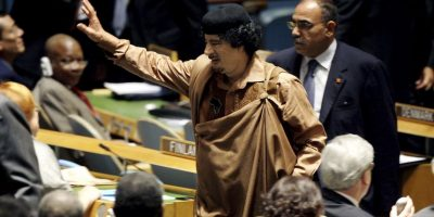 Durante ese tiempo, Gadafi se dedicó a despotricar contra la ONU y su Consejo de Seguridad Foto:Getty Images